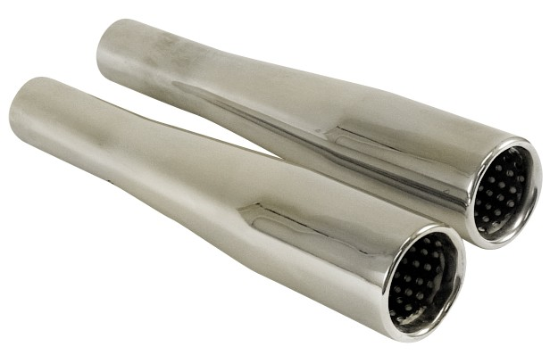 Tail Pipes Chrome Tapered, Pr.