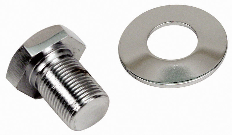 Chrome Bolt & Washer Set, For Bolt-In Sand Seal Pulleys (Extra L