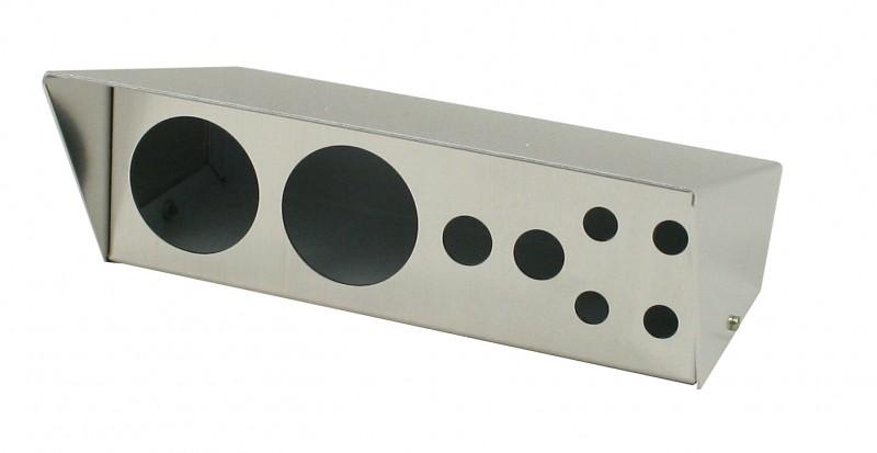 Gauge/Switch Hldr,Brushed Alum