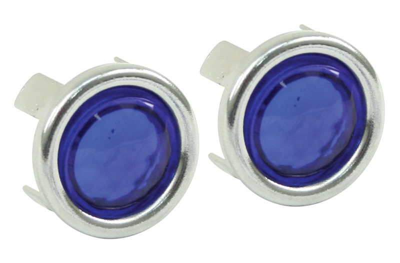 Blue Dot With Chrome Ring