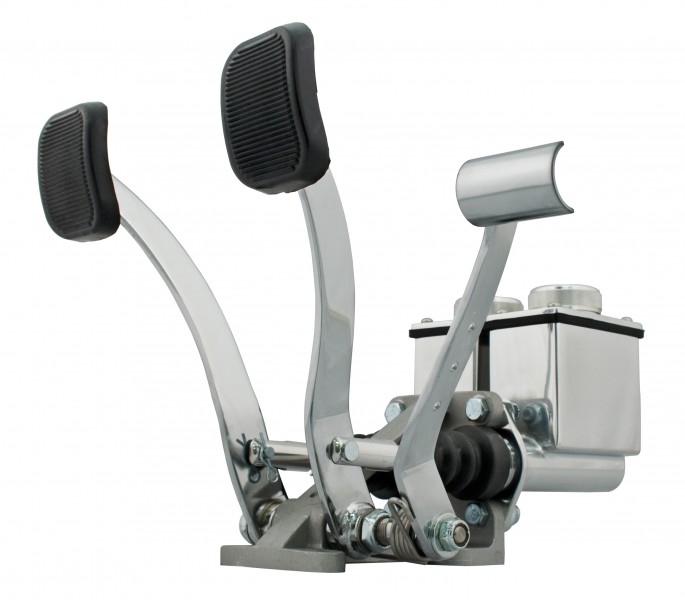 Dual Pedal W/ Roller, Polished