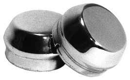 Chrome Dust Caps, Without Hole, Pair