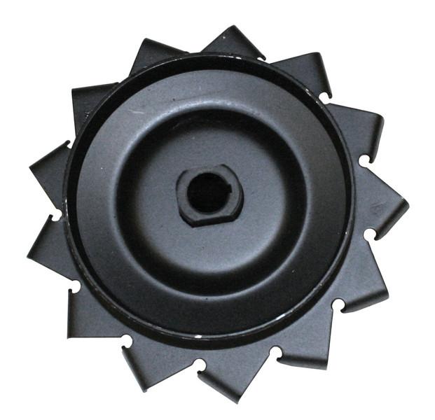 12-Volt Pulley, W/ Air Fins, Black