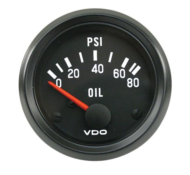 Oil Pressure Gauge, 0-80 Psi